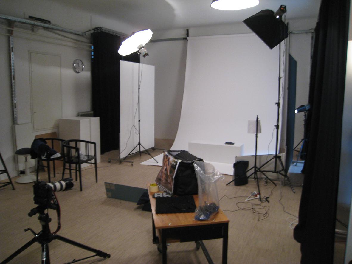 Fotostudio mit Lampen
