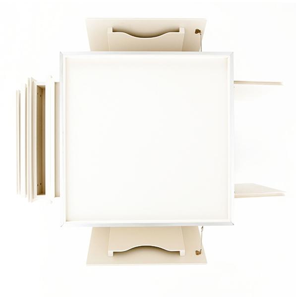 Designer Möbel, Ladenksten aus weißer Schichtplatte von Michael Scheriau