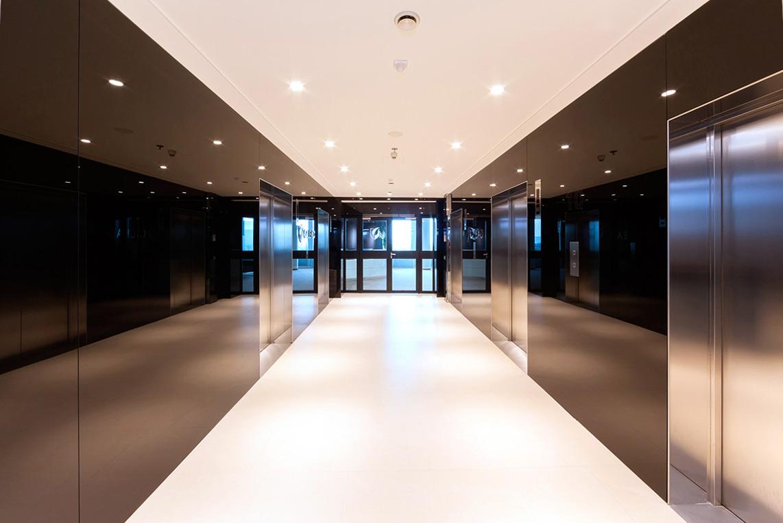 Eingangshalle der Gilead Offices in Wien